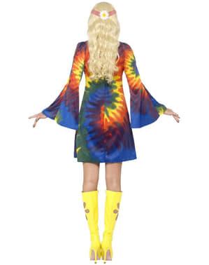 Fato de hippie dos 60 com vestido