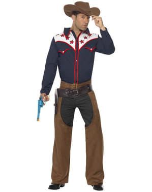 Disfraz de vaquero de rodeo para hombre