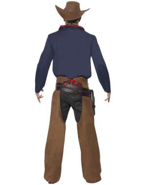 Cowboy Kostüm Rodeo blau für Herren