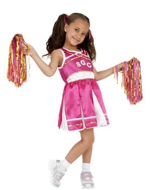 Fato de animadora cor-de-rosa para menina