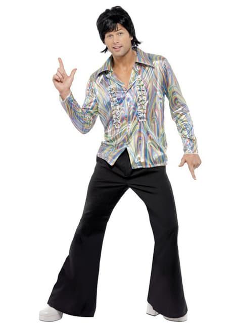 Psychedelisch 70's kostuum voor mannen