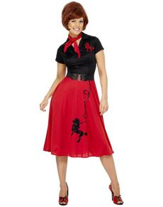 0f3e916ff860 Costumi anni  50  abiti carnevale rock n roll e pin-up