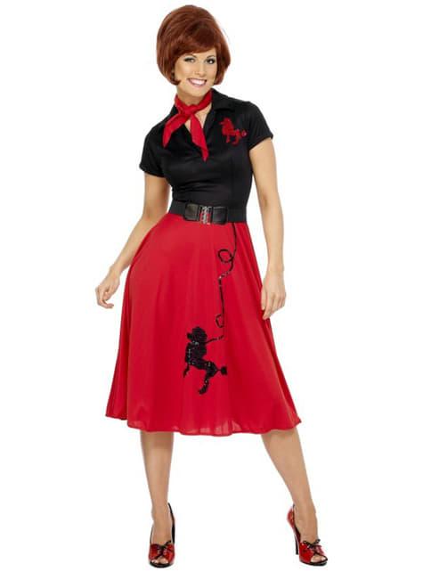 50's kostuum voor vrouw
