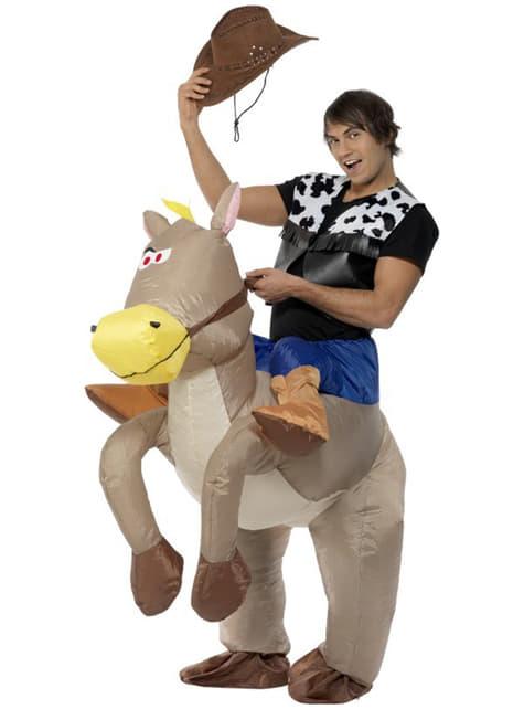 Φουσκωτό γκρι άλογο κοστούμι για ενήλικες