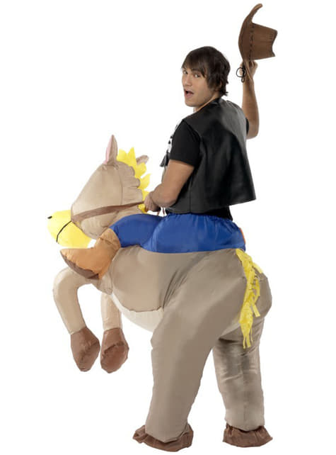 Disfraz de vaquero hinchable para adulto - hombre