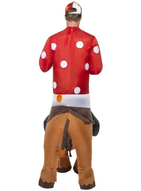 Disfraz de jockey hinchable para adulto