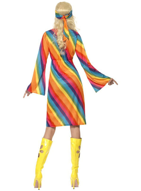 Rainbow hippy Woman Adult Costume