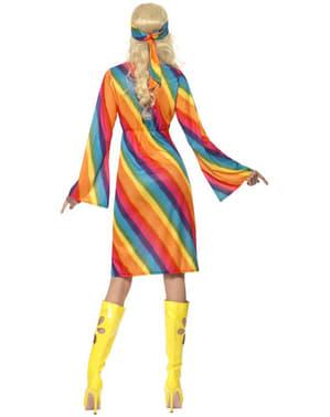 Déguisement de hippie arc-en-ciel pour femme