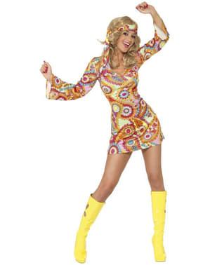 Iloinen Hippi-nainen-asu aikuisille