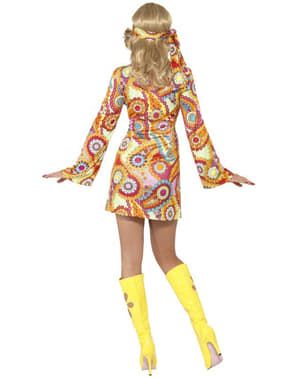 Fato de felicidade hippie para mulher