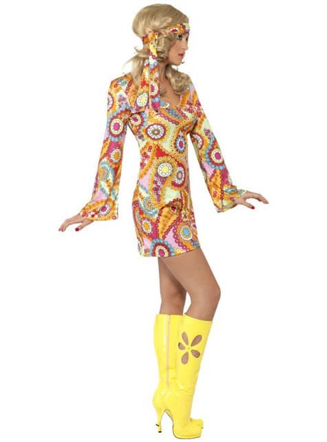 Disfraz de felicidad hippy para mujer - original