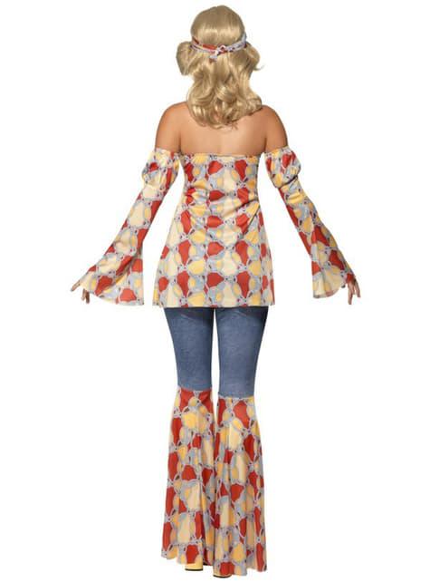 Disfraz de hippie vintage para mujer - mujer