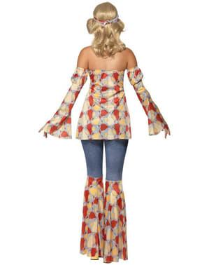 Disfraz de hippie vintage para mujer