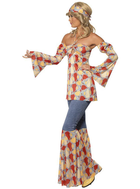 Disfraz de hippie vintage para mujer - original