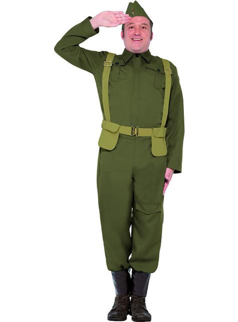 2 verdenskrig soldat kostyme til mann