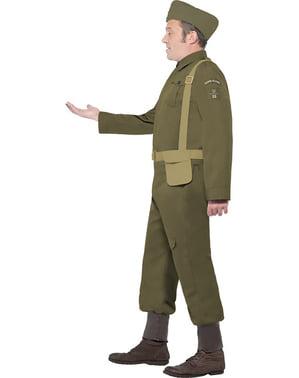 Fato de guarda da Segunda Guerra Mundial para homem