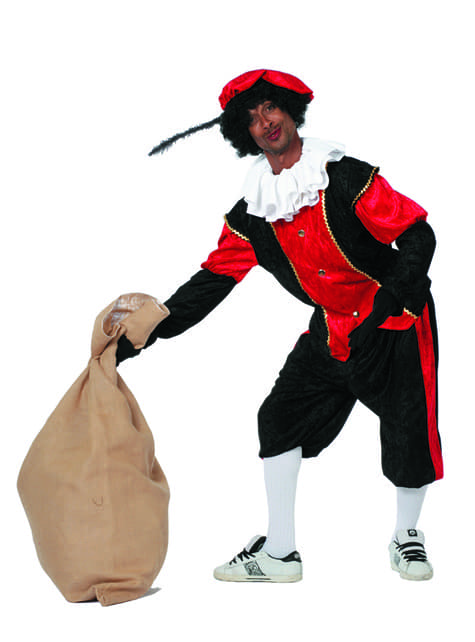 Disfraz de Pedro ayudante de San Nicolás rojo para hombre