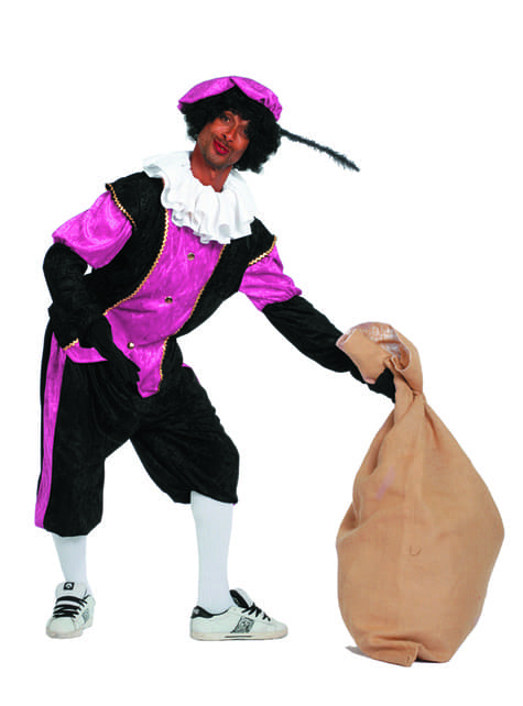 Disfraz de Pedro ayudante de San Nicolás rosa para hombre - hombre