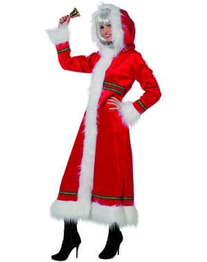 Weihnachtsfrau Kostüm mit Kapuze für Damen