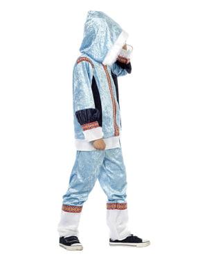 Costum de eschimos albastru pentru băiat