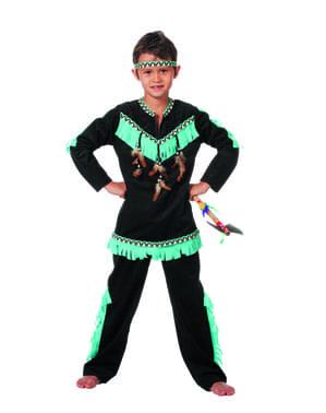 Indianer Kostüm neon für Jungen