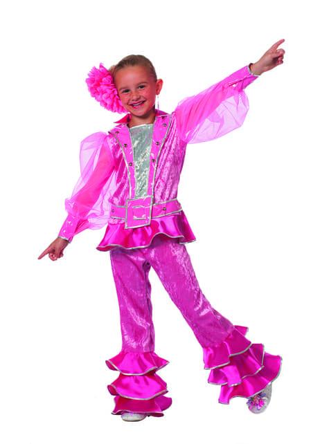 Disfraz de Mamma Mia rosa para niña - Abba