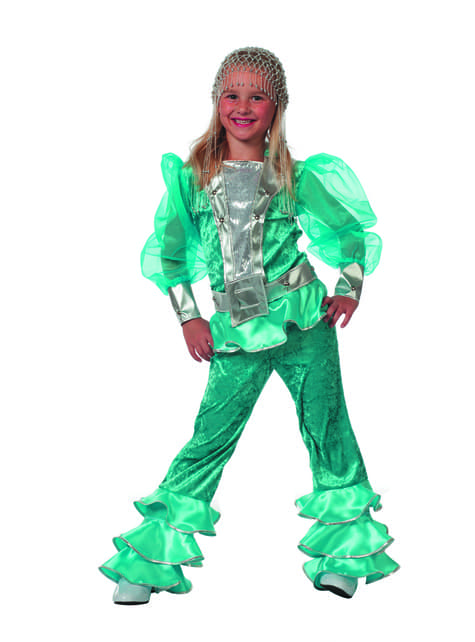 Blue Mamma Mia costume for girls - Abba