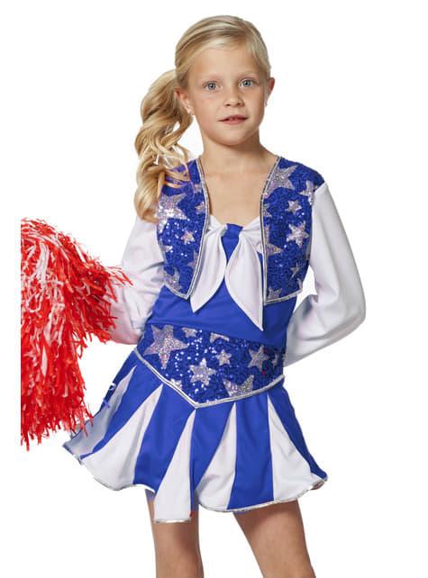 Blue Cheerleader Costume for Girls