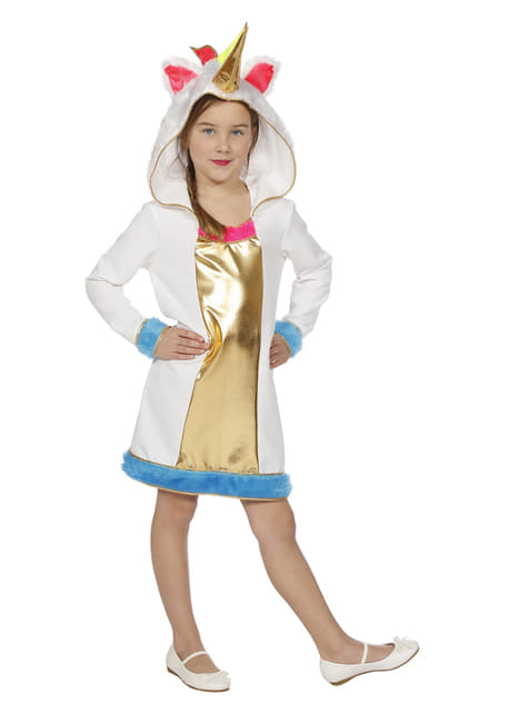 Gold unicorn costume for girls