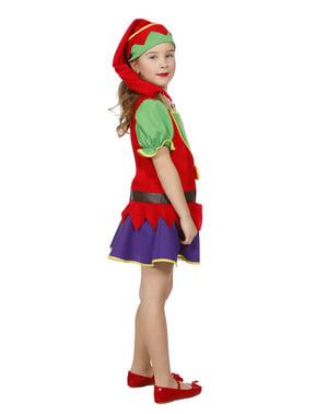 Disfarce de duende de Natal para menina