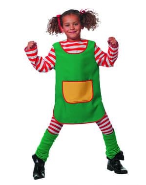 Disfraz de pelirroja divertida para niña
