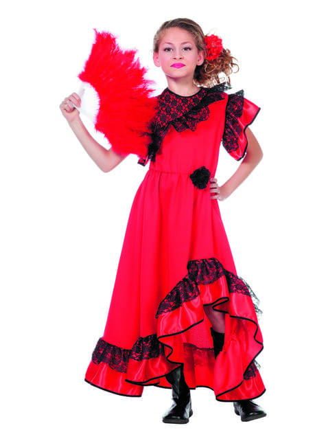 Disfraz de Carmen La Sevillana para niña