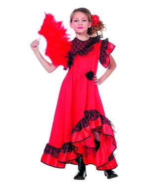Dzieci hiszpańskiego Flamenco spódnice brazylia kostium