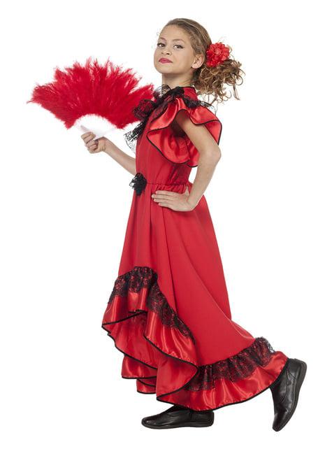 Disfraz de Carmen La Sevillana para niña - niña