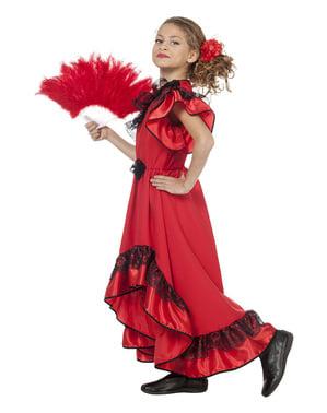Carmen die Sevillanerin Kostüm für Mädchen