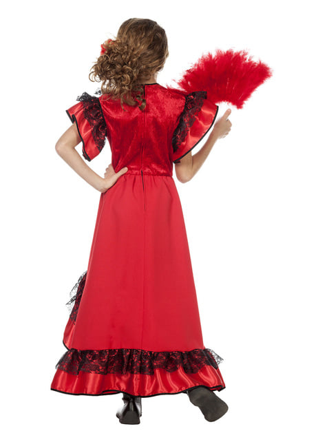 Disfraz de Carmen La Sevillana para niña - original
