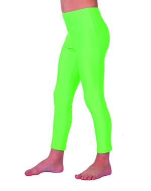 लड़कियों के लिए 70 की हरी लेगिंग