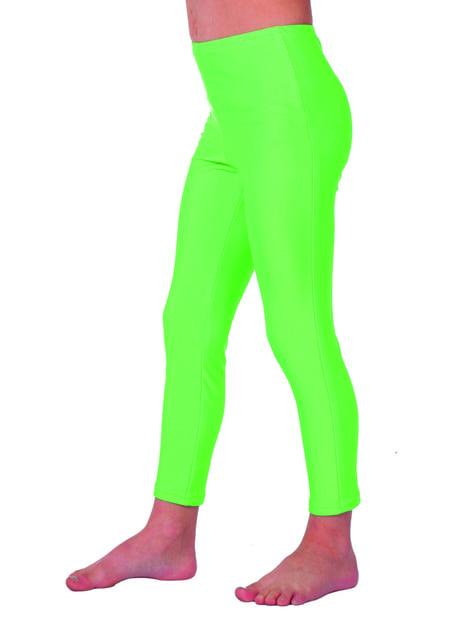 71er Jahre Leggins grün für Mädchen