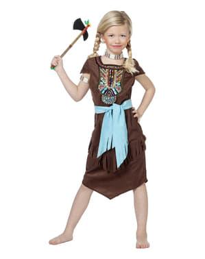 女の子のためのデラックスインディアン衣装