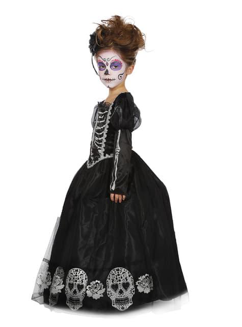 Disfraz de Catrina Día de los Muertos para niña - niña