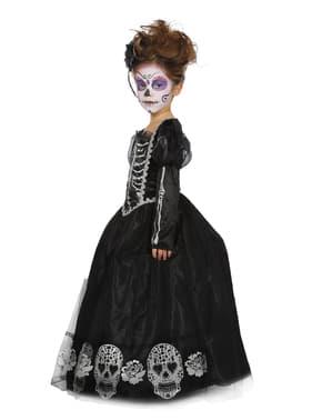 Fato de Dia dos Mortos para menina