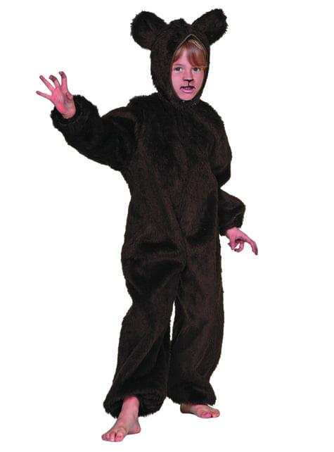 Maskeraddräkt björn hår för barn