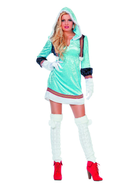 Blue eskimo costume for women