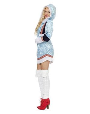 Blåt eskimo kostume til kvinder