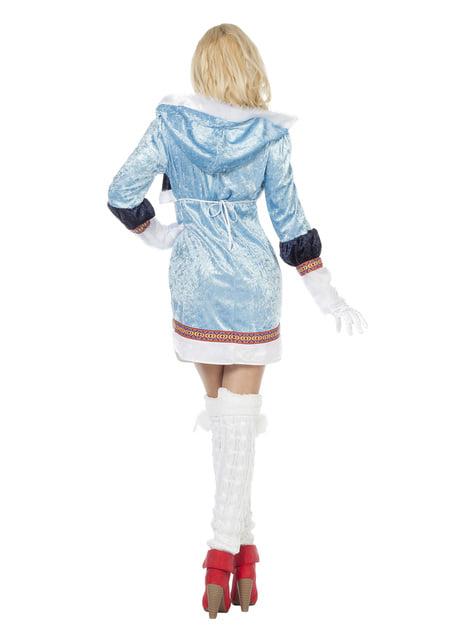 Blauw eskimo kostuum voor vrouw