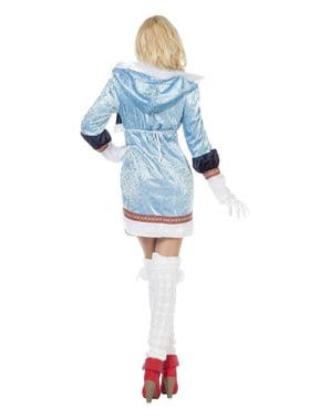 Eskimo Kostüm blau für Damen
