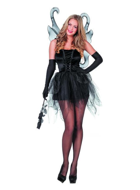 Czarny kostium motyla dla kobiet