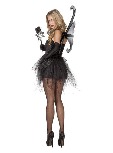 Schmetterling Kostüm schwarz für Damen