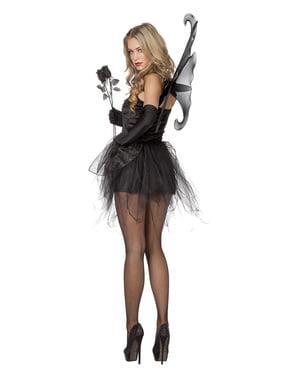 Zwart vlinder kostuum voor vrouw