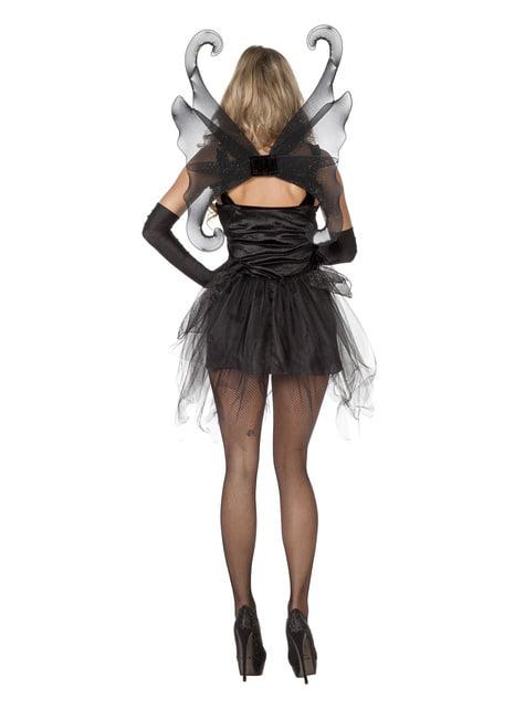 Black butterfly costume for women